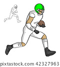 american football player running with the ball 42327963