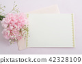 메시지 카드와 꽃 42328109