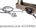 stethoscope and blood pressure monitor 42329481