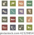 wind instruments icon set 42329854
