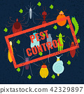 Pest insects coloured set 42329897