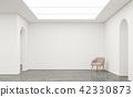 Empty white room modern space interior 3d render 42330873