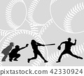 baseball players on the abstract background 42330924