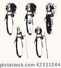 Japanese girl. 5 variants. 42331544