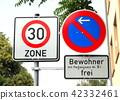 speed limit, a mark, mark 42332461
