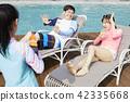 旅行,家庭,爸爸,媽媽,女兒,韓國人 42335668
