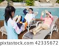 旅行,家庭,爸爸,媽媽,女兒,韓國人 42335672