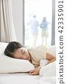 잠,휴식,소녀,한국인 42335901