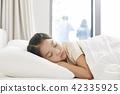 잠,휴식,소녀,한국인 42335925