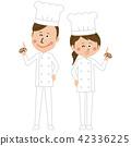 厨师老师的手指姿势 42336225