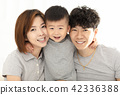 happy family mother, father and child playing 42336388