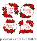 floral, vector, wedding 42336879