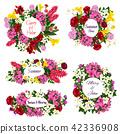 wedding flower invitation 42336908
