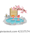 Inbound Foreign Travelers Hot Spring Illustration Spring 42337574