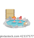 Inbound Foreign Travelers Hot Spring Illustrations 42337577