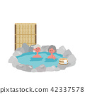 Senior Hot Spring illustration 42337578