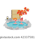 Inbound Foreign Travelers Hot Spring Illustrations 42337581
