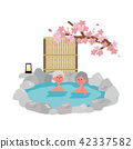 Senior Spa Illustration Spring cherry 42337582
