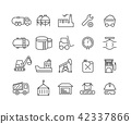 Simple Set of Industrial vector thin line icons 42337866