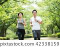 ภาพการวิ่งออกกำลังกายคู่กลาง 42338159