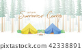 Summer Camp Poster or banner yellow & blue camp 42338891