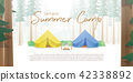 Summer Camp Poster or banner yellow & blue camp 42338892