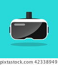 Virtual reality headset in flat style 42338949