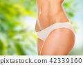 close up of woman body in cotton underwear 42339160