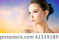 woman, jewelry, earring 42339189