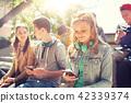 smartphone, girl, group 42339374