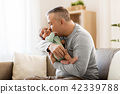 father, baby, home 42339788