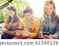 smartphone, friends, boy 42340126