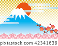 富士的新年贺卡材料 42341639