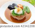 일본식 햄버거 오오바와 무 올려 42342208