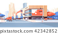 City street road skyscraper buildings view modern cityscape downtown billboard advertising 42342852