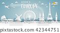 Europe Landmark Global Travel And Journey paper  42344751
