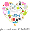 Healthy lifestyle conceptual design. Vector 42345895