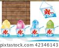 수채화 풍 빙수 ~ 얼음 컵과 얼음 벽돌 42346143