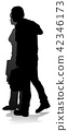 silhouette, vector, people 42346173