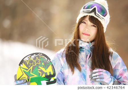 a821d10b49 Snowboard wear women - Stock Photo  42346764  - PIXTA