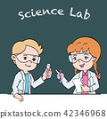 Kids in science lab class - Cartoon Vector 42346968