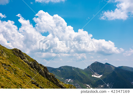 beautiful cloudscape over the Fagaras mountains 42347169