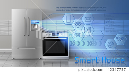 Smart house vector concept background 42347737