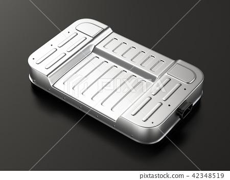 검은 배경에 전기 자동차 용 배터리 팩의 이미지 - 스톡일러스트 ...