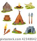bonfire torch vector 42348642
