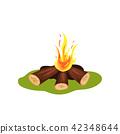 bonfire, flame, vector 42348644