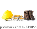 Personal protective equipment on white background 42349055