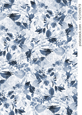 Seamless summer pattern with watercolor flowers 42349979