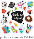 school stickers collection 42350462