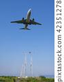 Airplane landing Airplane landing 42351278